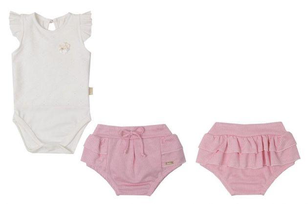 Conjunto Baby RN/PMG 10911 Rosa - Paraíso 107563