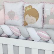 Kit Berço 10P Princesa Pad Uni Baby Magia 2117301 - Brubrelel  101748