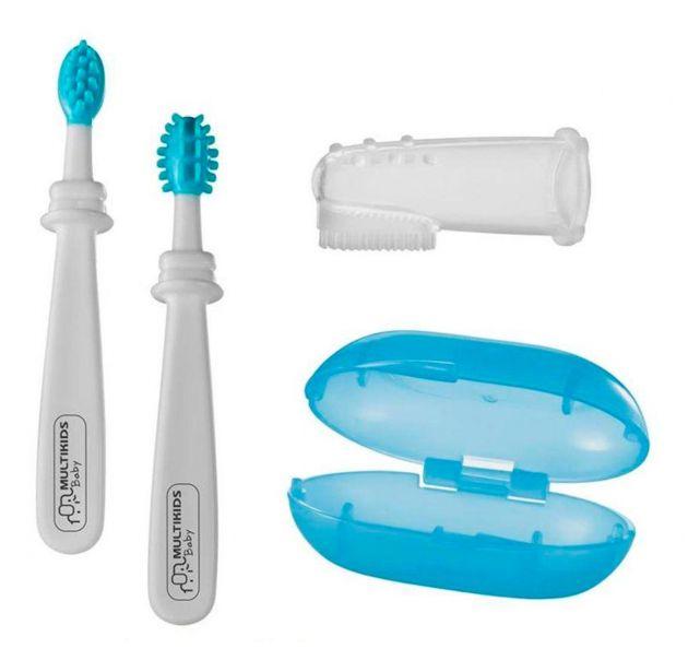 Kit Higiene Oral 3 Estágios Azul BB243 - Multikids Baby 105356